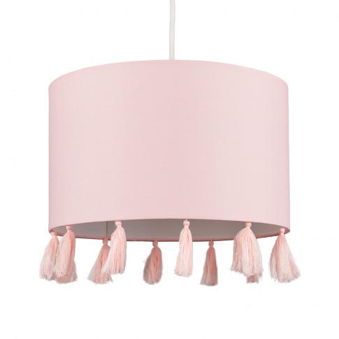 Vivian Tassel Shade In Dusty Pink