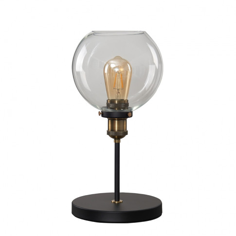 Sheridan Steampunk Table Lamp With Clear Glass Shade