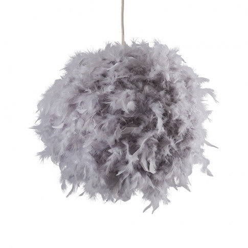 Uriel Feather Pendant Shade In Grey