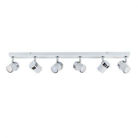 Rosie 6 Way Eyeball Spotlight Bar In White And Chrome