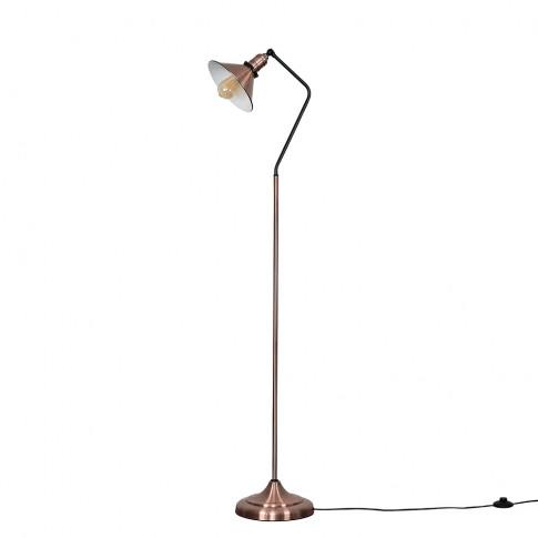 Corinthia Antique Copper Angled Floor Lamp