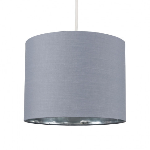 Reni Small Pendant Shade In Grey And Chrome