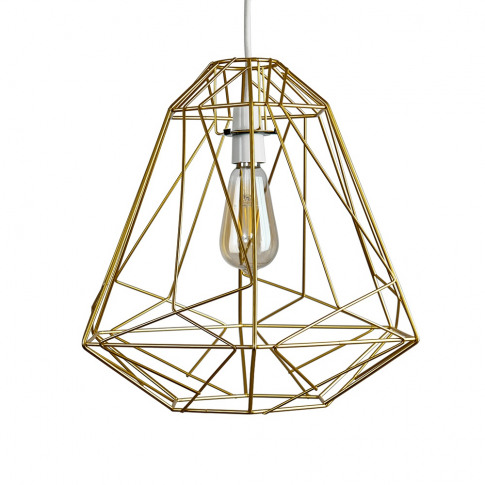 Iconic Peru Wire Frame Pendant Shade In Gold