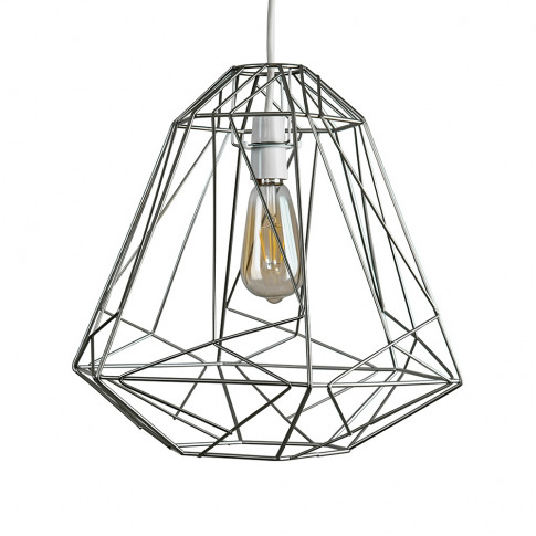 Iconic Peru Wire Frame Pendant Shade In Silver