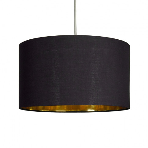 Reni Large Pendant Shade In Black And Gold