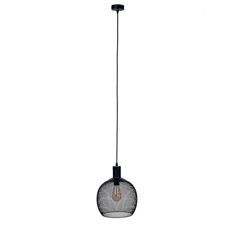 Regina Matt Black Mesh Pendant Ceiling Light