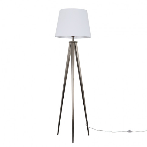 Nero Floor Lamp With Xl White Aspen Shade