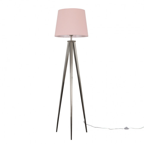 Nero Floor Lamp With Xl Dusty Pink Aspen Shade