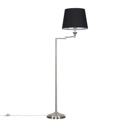 Sinatra Floor Lamp With Black Aspen Shade