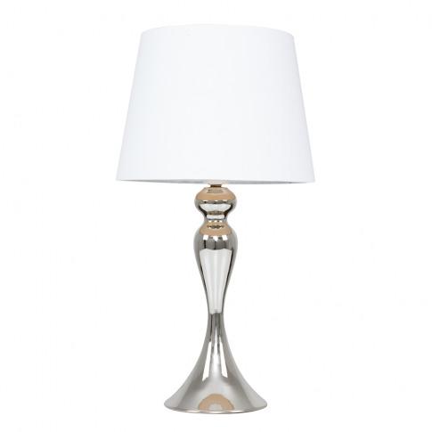 Faulkner Chrome Touch Table Lamp With White Aspen Shade