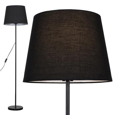 Charlie Black Floor Lamp With Black Aspen Shade