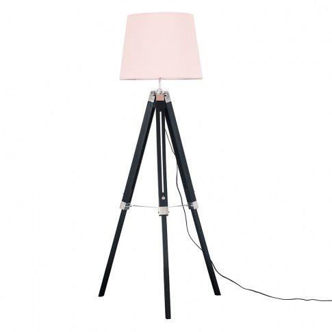 Clipper Black And Chrome Tripod Floor Lamp With Dust...