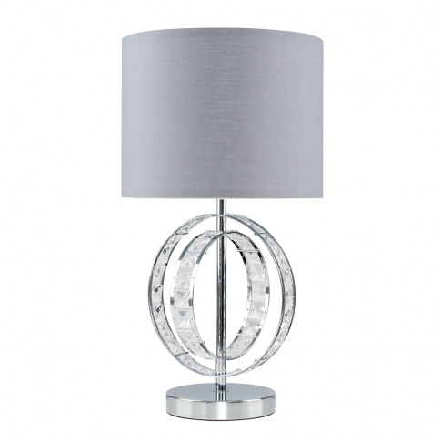 Rothwell Touch Table Lamp With Grey Shade