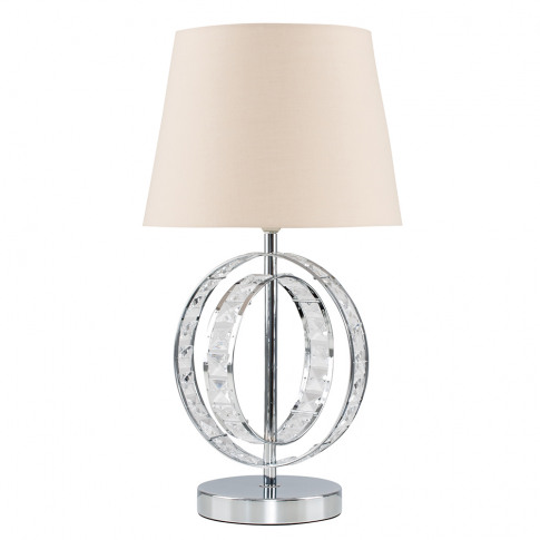 Rothwell Touch Table Lamp With Beige Tapered Shade