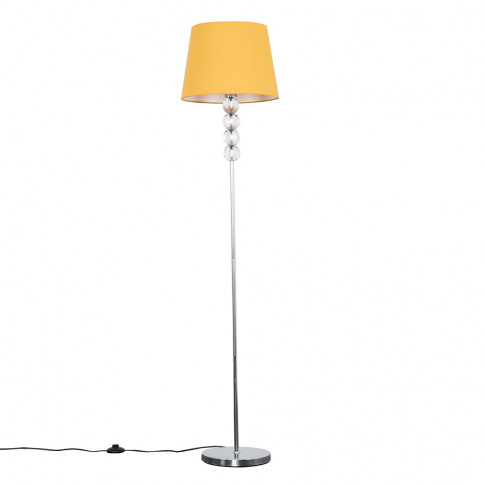 Eleanor Chrome Floor Lamp With Mustard Aspen Shade