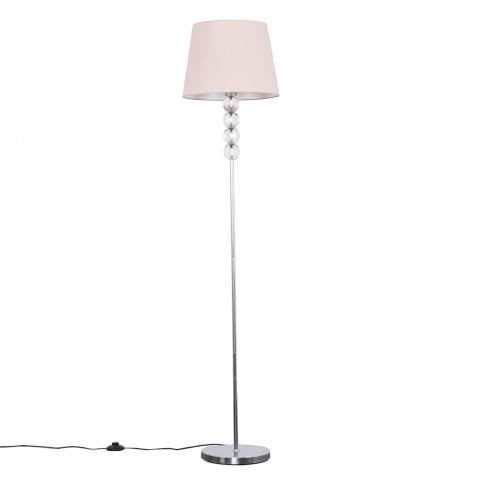 Eleanor Chrome Floor Lamp With Dusty Pink Aspen Shade