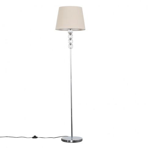 Eleanor Chrome Floor Lamp With Beige Aspen Shade