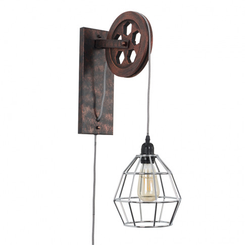 Anderton Pulley Wall Light With Chrome Hamish Shade