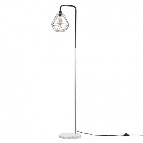 Talisman Black And Chrome Floor Lamp With Grey Diabl...