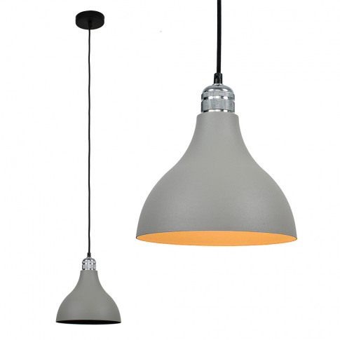 Casco Chrome Pendant With Grey Dexter Shade
