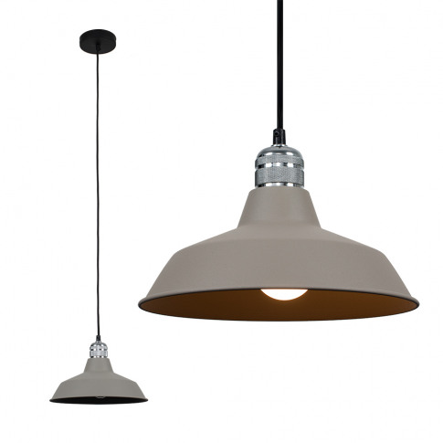Casco Chrome Pendant With Grey Colby Shade