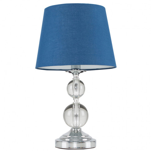 Gatto Touch Table Lamp With Navy Blue Tapered Shade