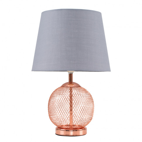 Regina Touch Table Lamp With Grey Tapered Shade