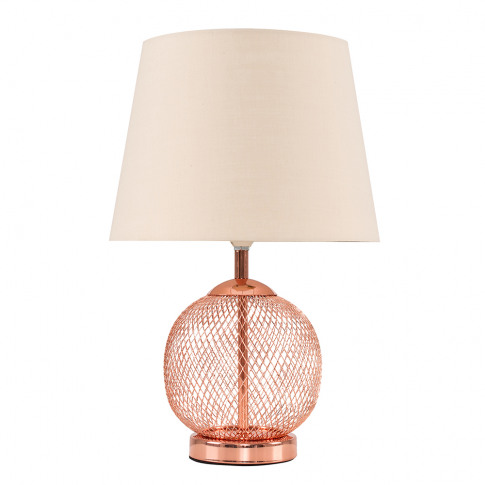Regina Touch Table Lamp With Beige Tapered Shade