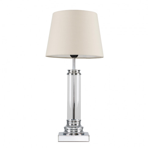 Knowles Touch Table Lamp With Beige Aspen Shade