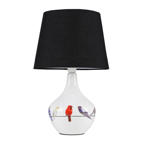 Birds Table Lamp With Black Aspen Shade