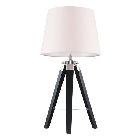Clipper Black And Chrome Tripod Table Lamp With Dust...