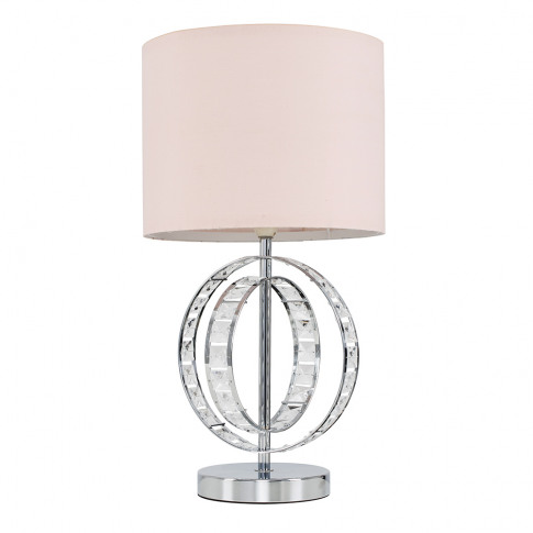 Rothwell Touch Table Lamp With Dusty Pink Shade