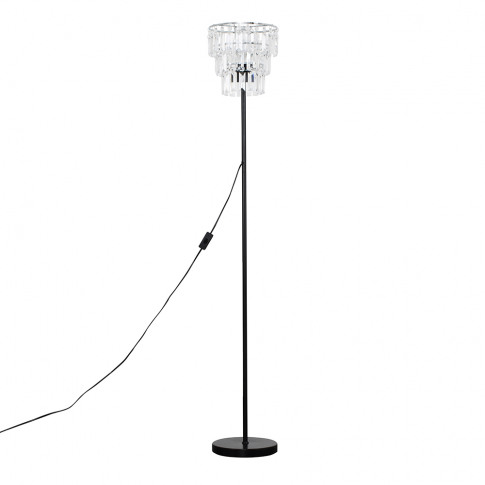 Charlie Black Floor Lamp With Kelsks Shade