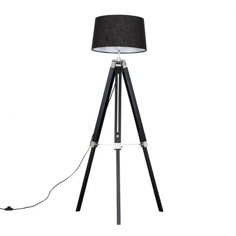 Clipper Black Tripod Floor Lamp With Black Doretta S...