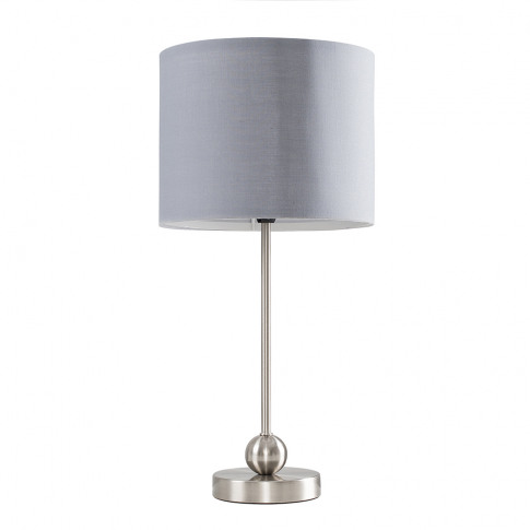 Theydon Chrome Table Lamp With Grey Shade