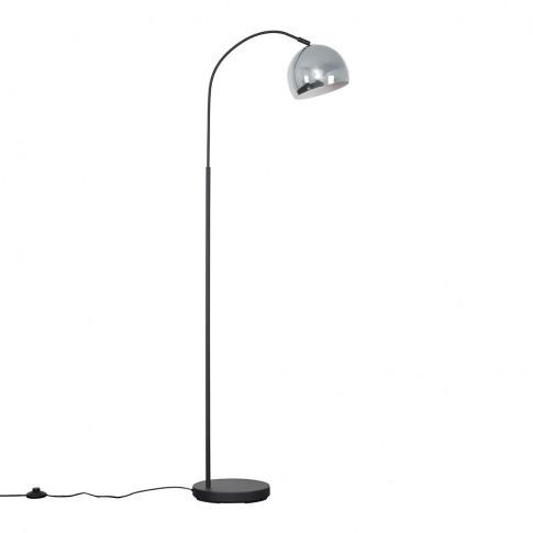 Curva Dark Grey Floor Lamp With Chrome Arco Shade