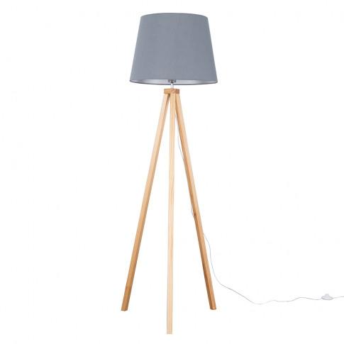 Barbro Light Wood With Xl Grey Aspen Shade