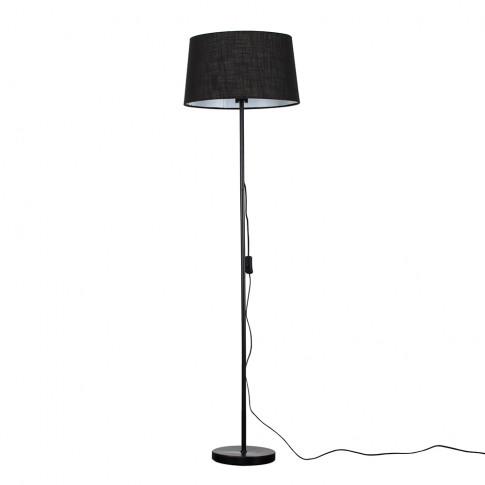 Charlie Black Floor Lamp With Black Doretta Shade