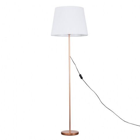 Charlie Copper Floor Lamp With Xl White Aspen Shade