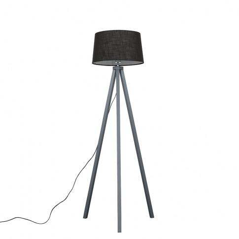 Barbro Grey Tripod Floor Lamp With Black Doretta Shade