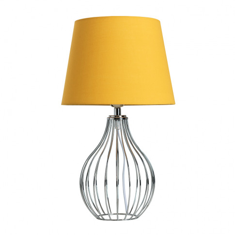 Andreas Chrome Table Lamp With Small Mustard Aspen Shade