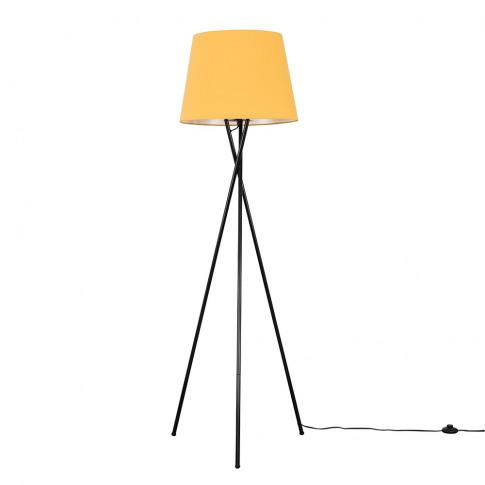 Camden Black Tripod Floor Lamp With Xl Mustard Aspen...