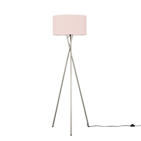 Camden Brushed Chrome Tripod Floor Lamp With Xl Dust...