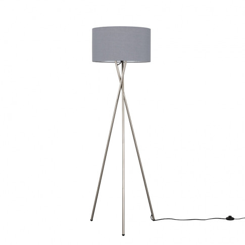 Camden Brushed Chrome Tripod Floor Lamp With Xl Dark...