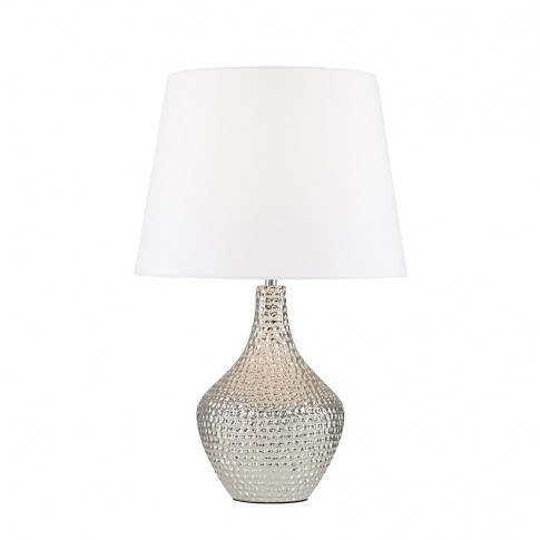 Bailey Chrome Table Lamp With White Aspen Shade