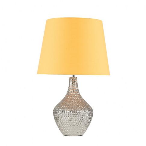 Bailey Chrome Table Lamp With Mustard Aspen Shade
