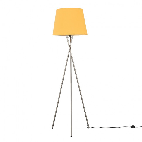 Camden Brushed Chrome Tripod Floor Lamp With Xl Must...
