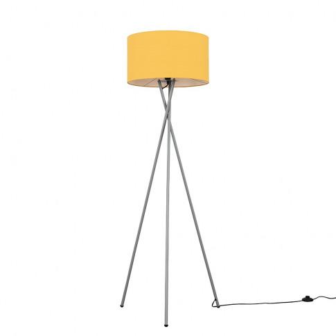 Camden Grey Tripod Floor Lamp With Xl Mustard Reni S...
