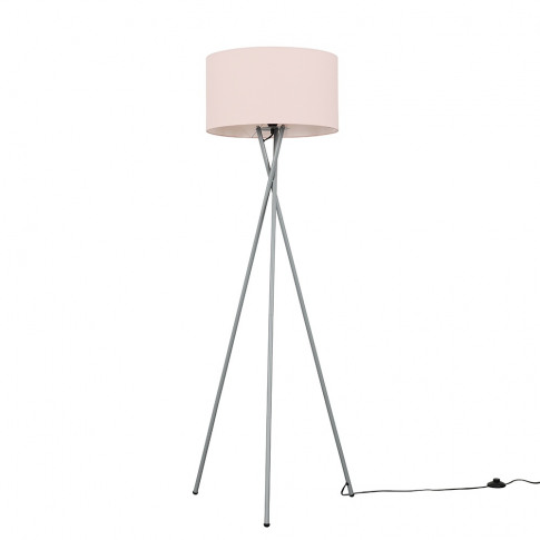 Camden Grey Tripod Floor Lamp With Xl Dusty Pink Ren...