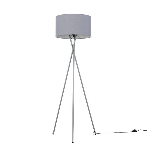 Camden Grey Tripod Floor Lamp With Xl Dark Grey Reni...